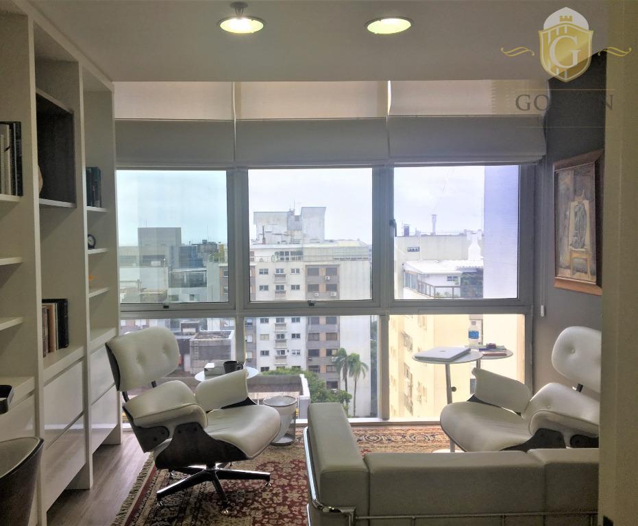 Sala, Bairro Moinhos de Vento, Mobiliada para Consultório e Psicoterapeuta.  Completa. No 5a. Av. Center. Porto Alegre.