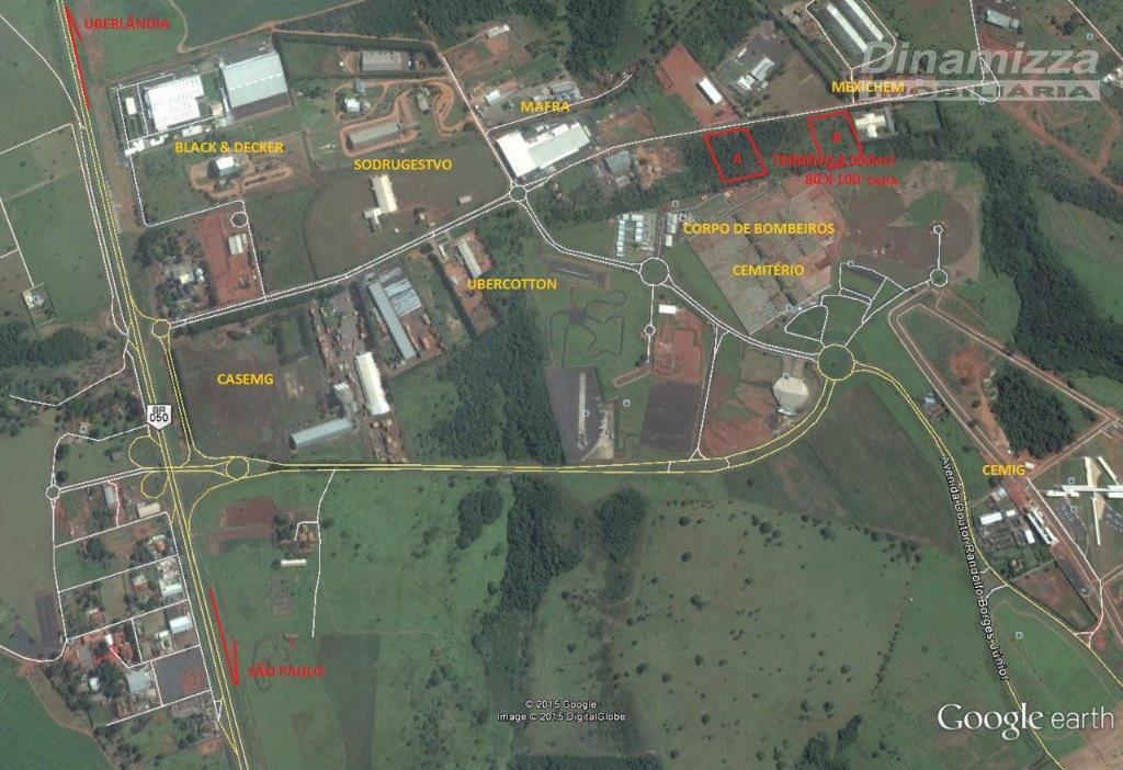 Terreno  residencial à venda, Distrito Industrial II, Uberaba.