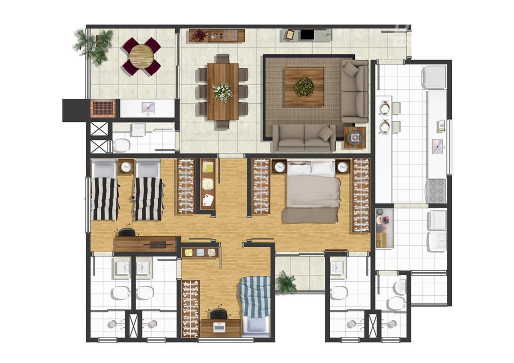 residencial santa sophia, novo, 3 suítes, varanda gourmet, lavabo, cozinha, sala 2 ambientes, área de serviço,...