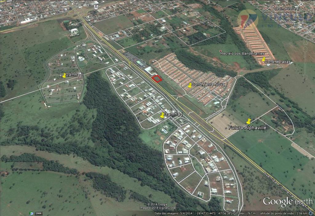 Terreno comercial à venda, Av Filomena Cartafina, Uberaba - TE0113.