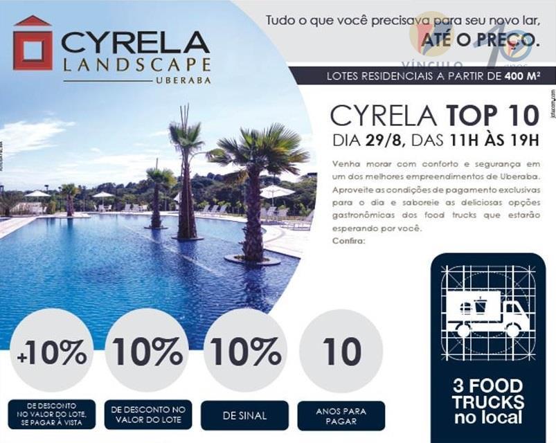 Terreno  residencial alto padrão à venda, Cyrela, Uberaba.