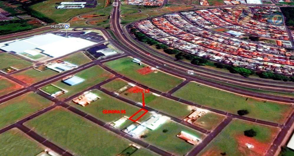 terreno com 250 m², no residencial parques das laranjeiras , l13 - q 95, próximo à...