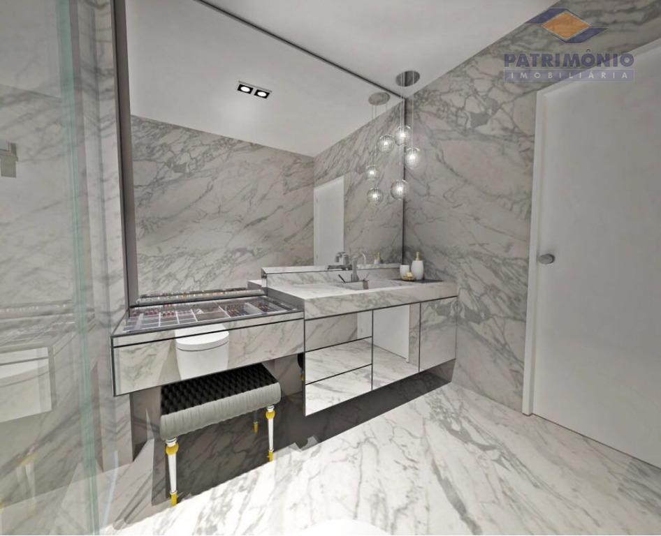 apartamento de 158 metros quadrados, em construção, com vista extraordinária para lago do uirapuru. este apartamento...