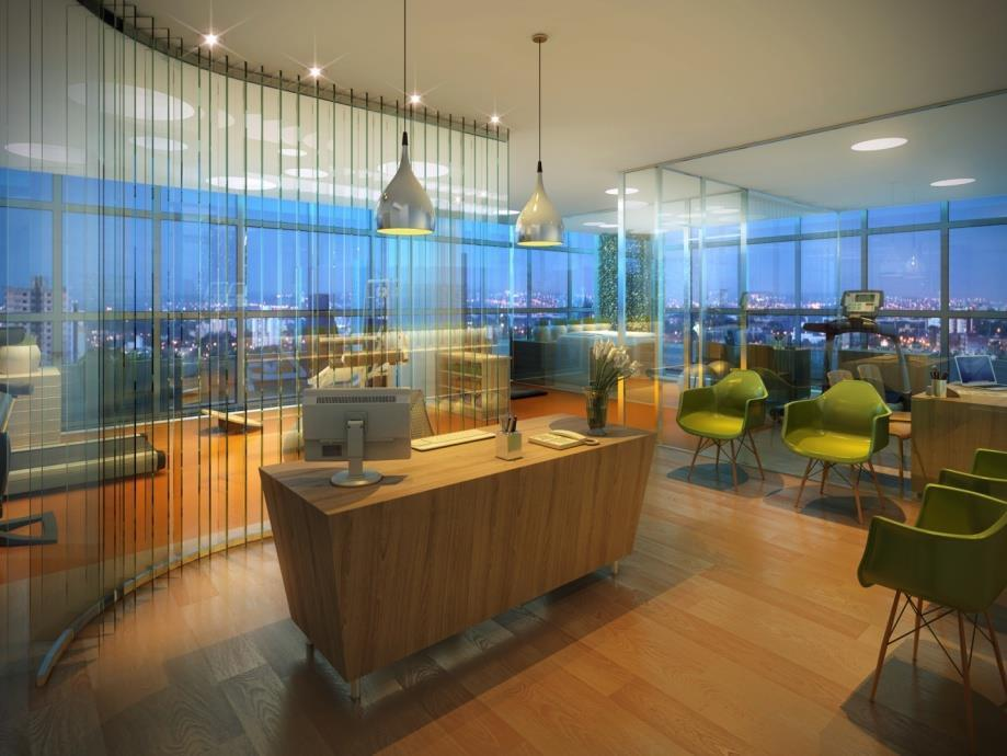 sala comercial com banheiro privativo, sendo uma vaga de garagem rotativa. salas moduladas, com formato que...