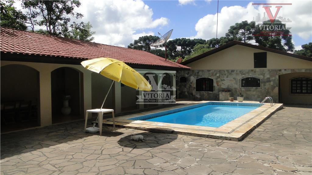 Aristocrata, São José dos Pinhais - Casa com Piscina e Terreno à venda, CA0113.