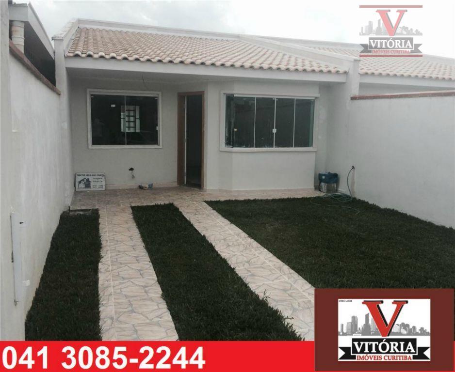 Casa 3Dorm. à venda, Gralha Azul, Fazenda Rio Grande - CA0124 - Vitória Imóveis