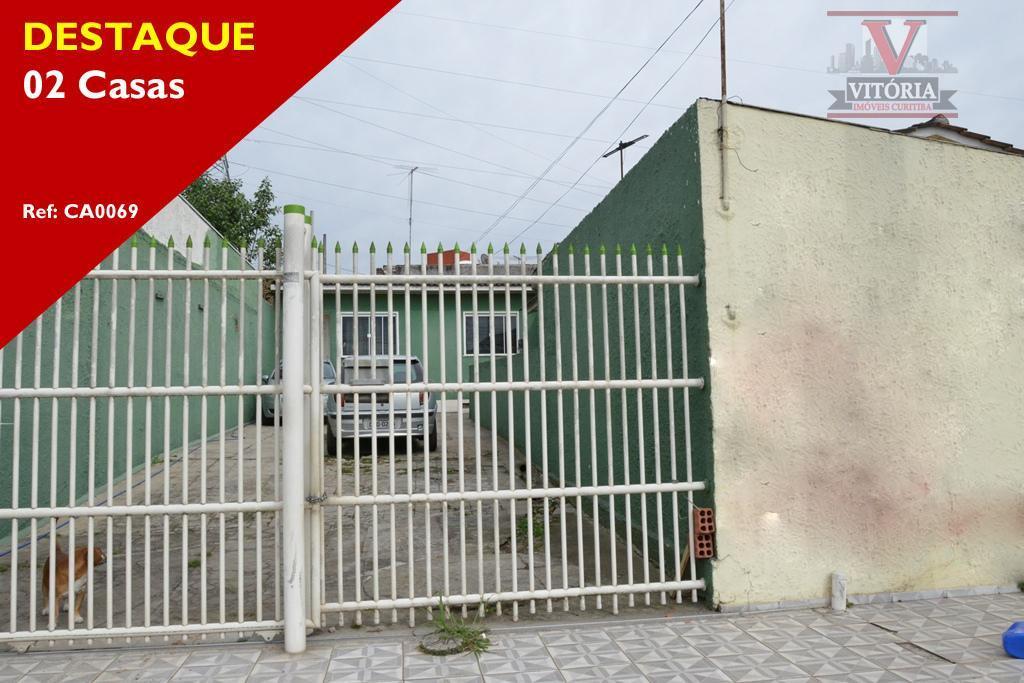 Casa 3Dorm. com Terreno à venda, Centro, São José dos Pinhais - CA0069.