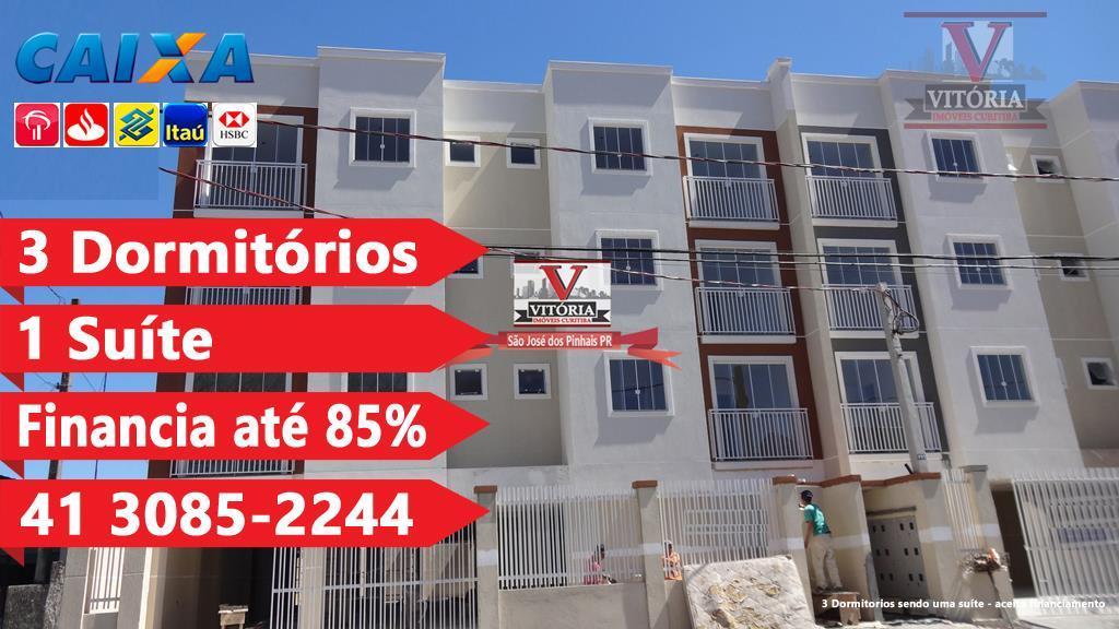 Apartamento alto padrão à venda, Cruzeiro, São José dos Pinhais - AP0681.