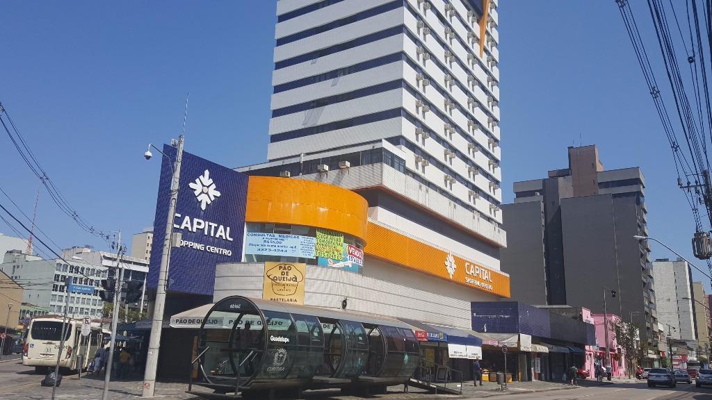 Conjunto Comercial - Centro de Curitiba - Sala com vista e ar condicionado - Apenas R$ 105.000,00