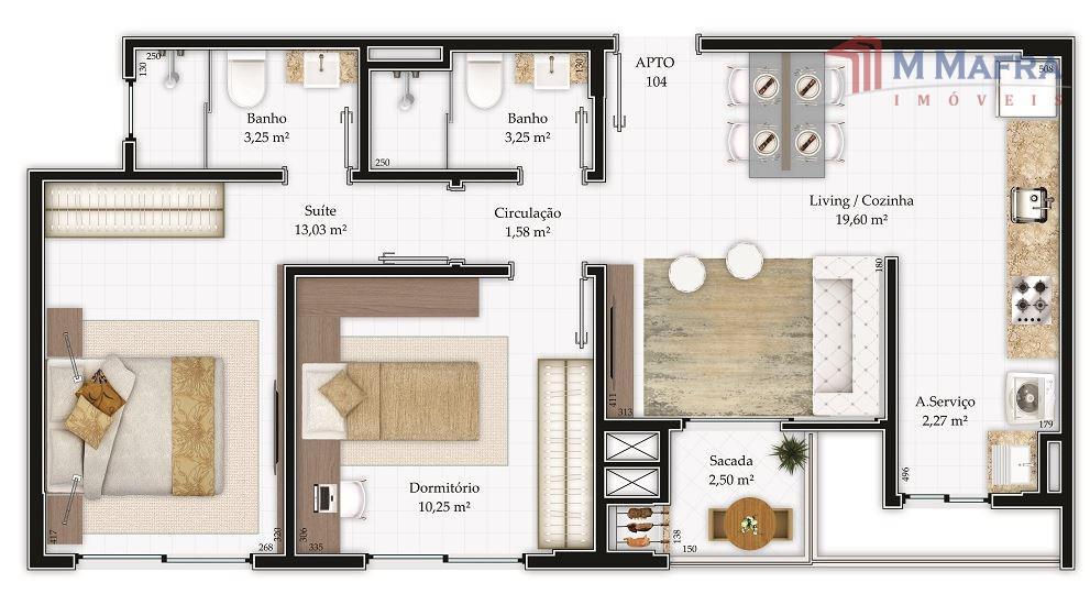 o maria augusta home + design é um empreendimento da construtora gpinheiro, possui localização privilegiada no...