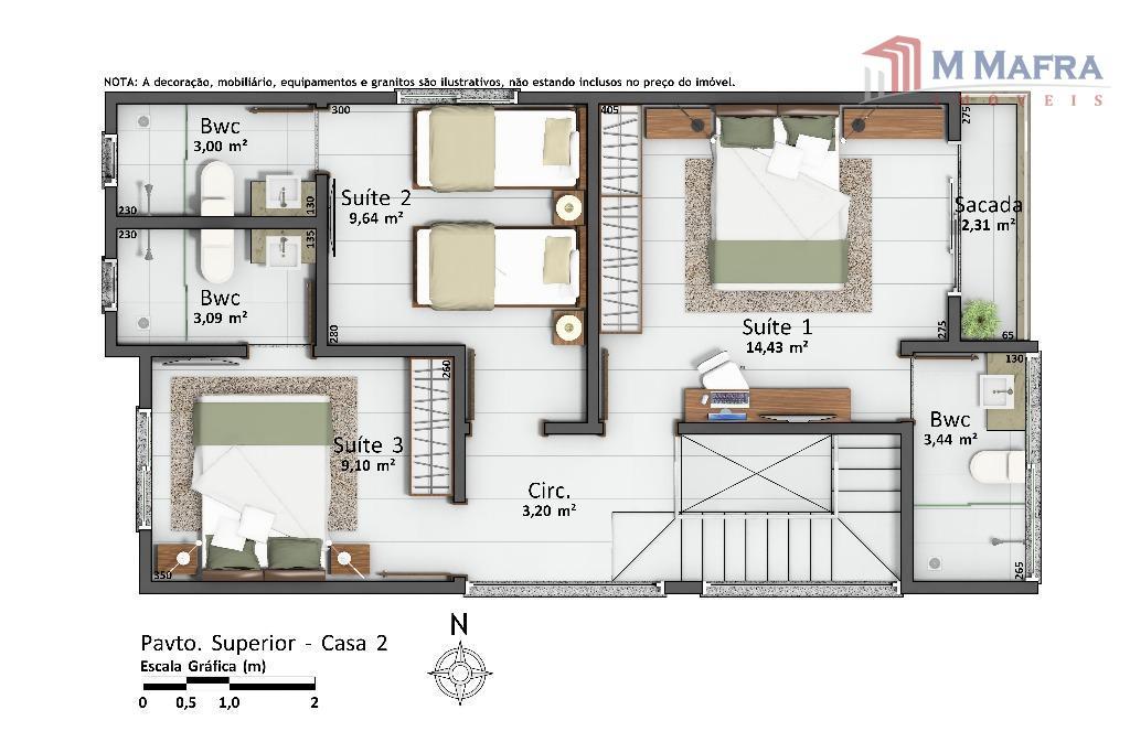 casa individual ,com três suítes , lindos banheiros revestidos em porcelanato, amplas salas de estar e...