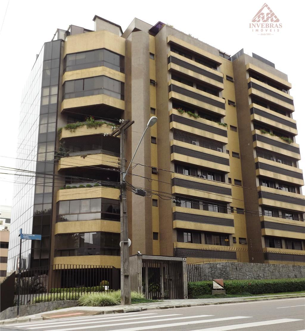***PROMOÇÃO***Apartamento com 4 suítes e 4 vagas, para locação, Bigorrilho, Curitiba.