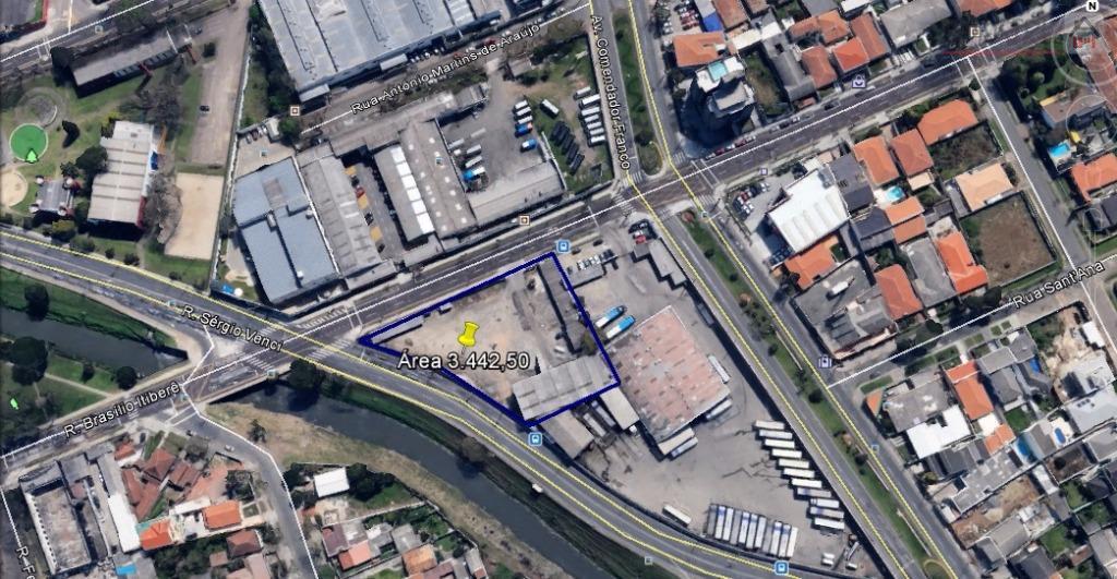 Terreno residencial à venda, Rebouças, Curitiba.