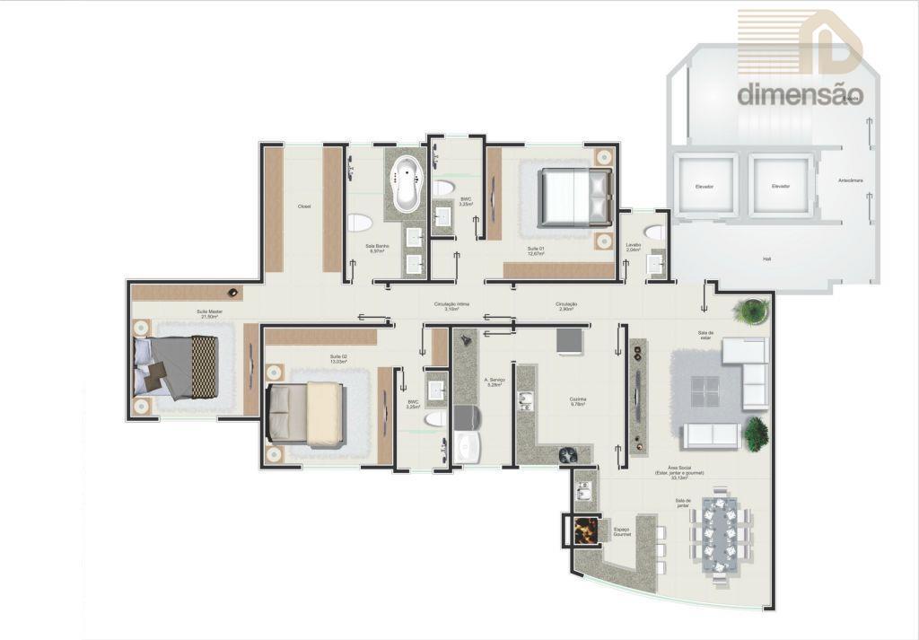 empreendimento residencial com 9.029,42m² de área construída, localizado no centro de balneário camboriú, próximo a igreja...