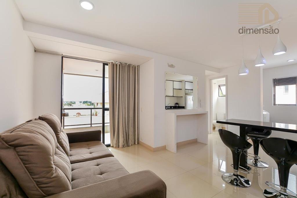 Apartamento 1 quarto MOBILIADO FACE NORTE à venda, Vila Izabel, Curitiba.