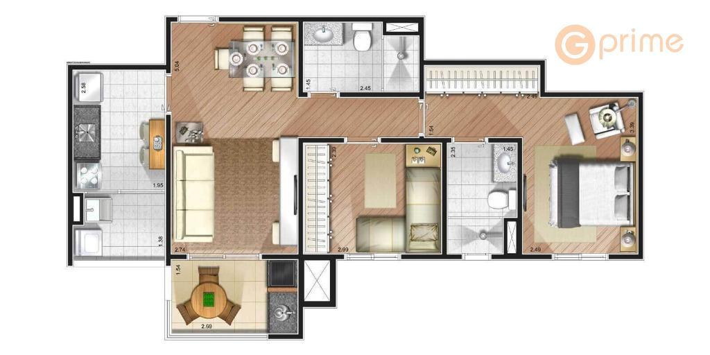 suprema vila augustasão 75 m², 3 dormts sendo 1 suíte e 2 vagas.está no contra piso,...