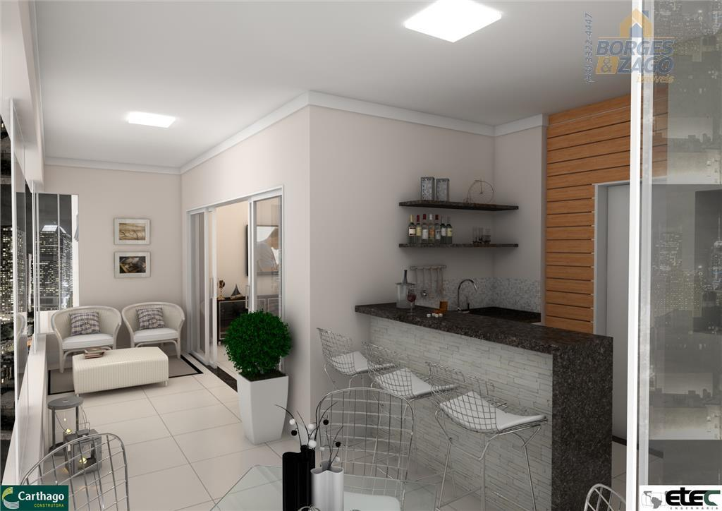 lançamento em alto padrão, apartamento com 128,91m² de área interna!com 3 suítes, wc, sala para 3...