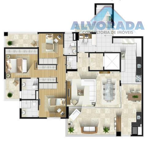 Apartamento residencial à venda, Jardim Aquárius, São José dos Campos - AP5118.
