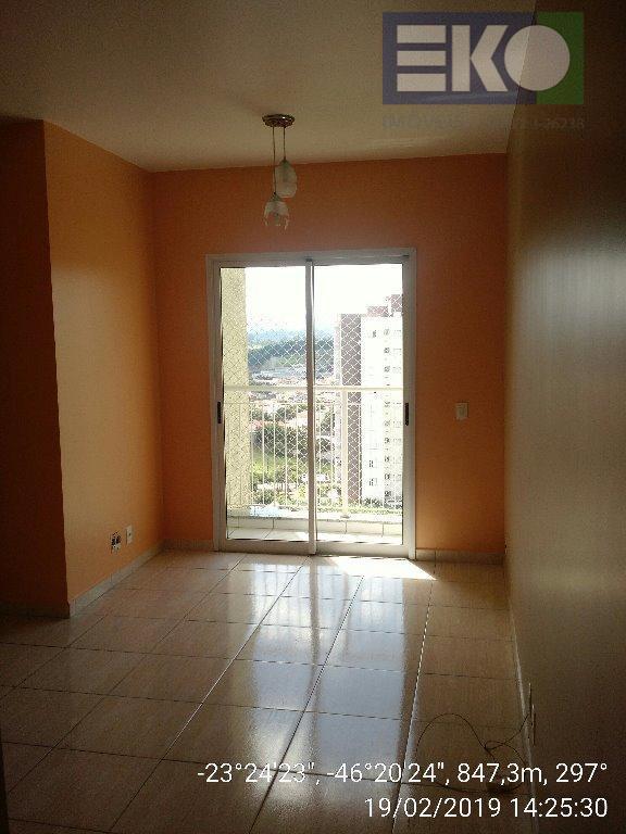 Apartamento com 3 dormitórios para alugar, 68 m² por R$ 1.800/mês - Jordanópolis - Arujá/SP