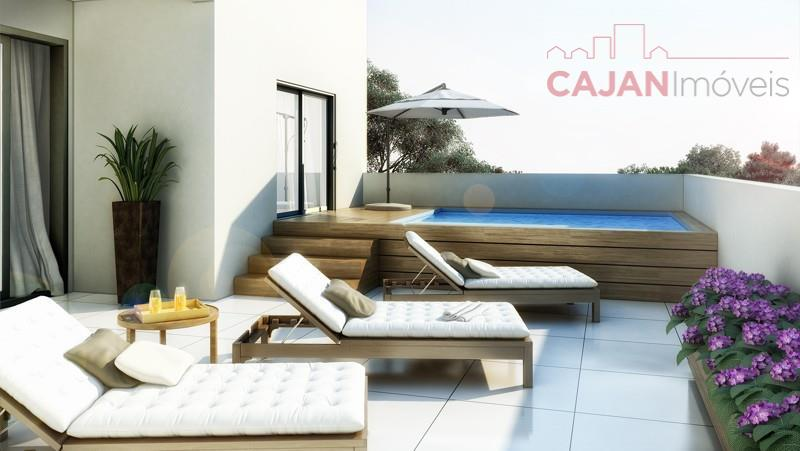 Apto 2 dormitórios no bairro Santa Cecília - Em construção