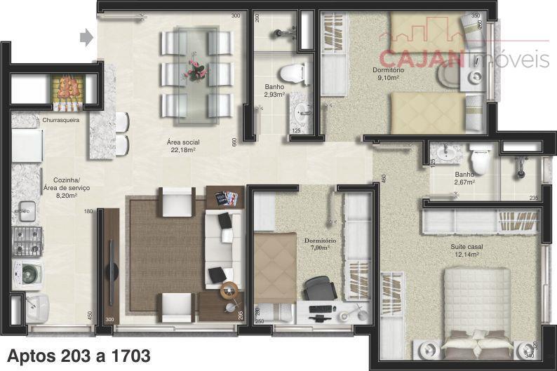 empreendimento special place, no bairro santana.apartamentos de 3 dormitórios, de 78m2 e 82m2 privativos, uma ou...