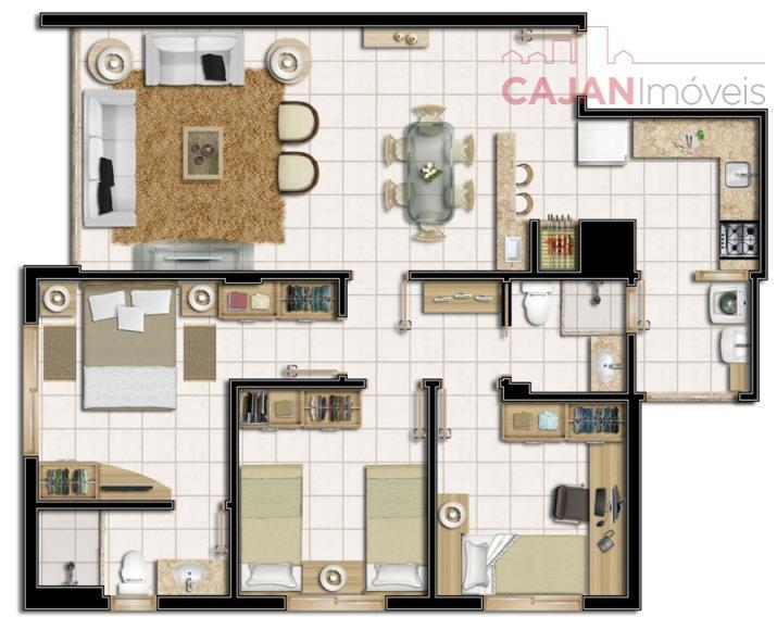 nilo home square - apartamentos de 3 dormitórios, com suíte, churrasqueira e 2 vagas na chácara...