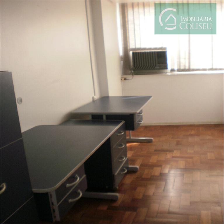 sala de 30m² no ed. coliseu.possui divisórias, móveis, banheiro e piso parquet. ed. com portaria 24hs,...