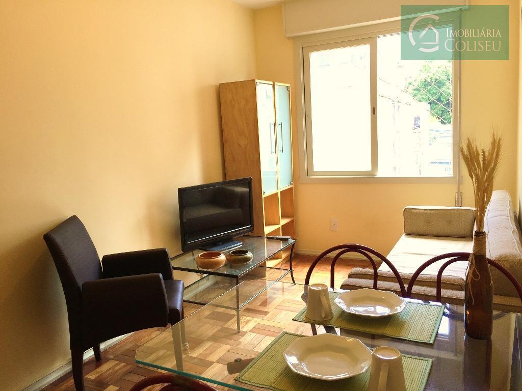 Apartamento, 1 Dormitório, para locação, todo mobiliado. Na Demétrio Ribeiro, Centro. Porto Alegre.