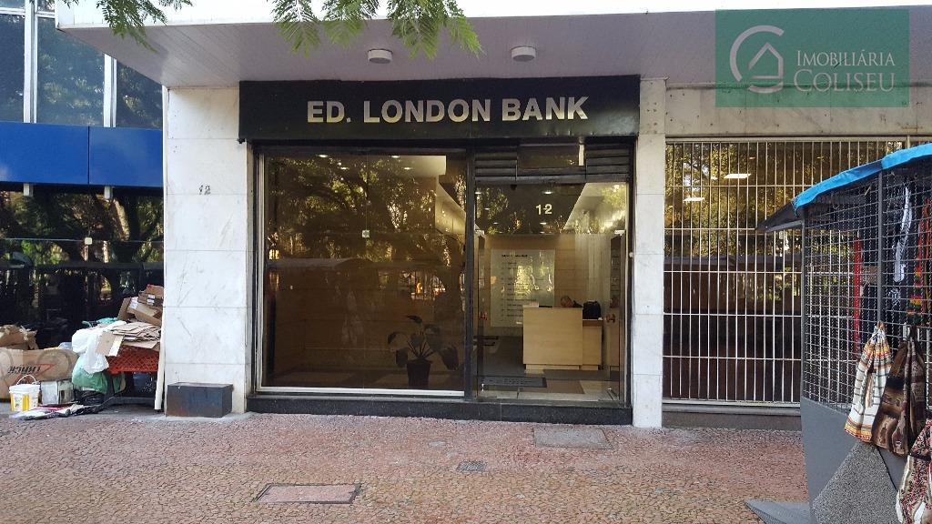 elegante conjunto na praça da alfandega, icônico ed. londonbank de frente a para praça, 162m² privativos,...