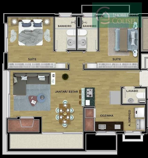 entrega em dezembro de 2019 - apartamento de 2 suítes com 2 vagas de garagem no...