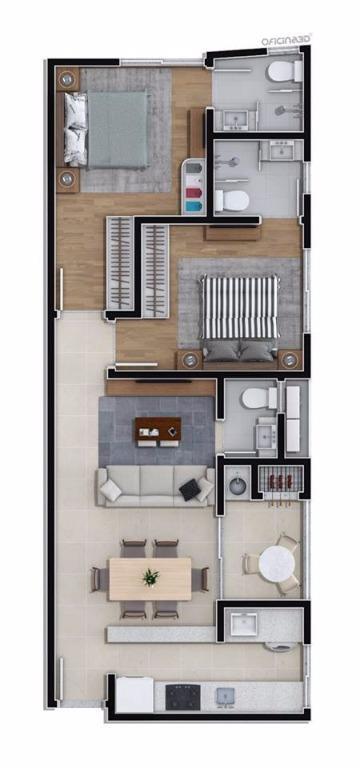 apto c/ 02 suítes, lavabo, living, cozinha, sacada c/ churrasqueira, área de serviço, garagem privativa, a/p...