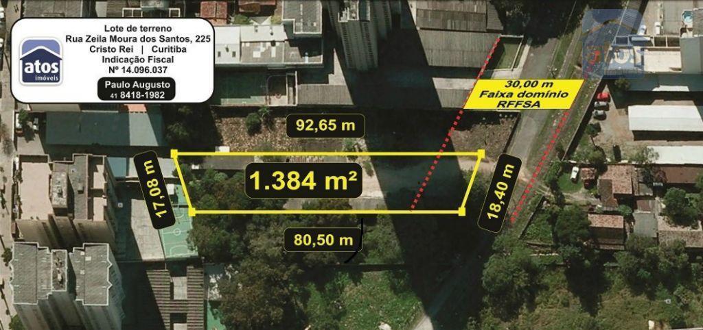 Terreno  residencial à venda, Cristo Rei, Curitiba.