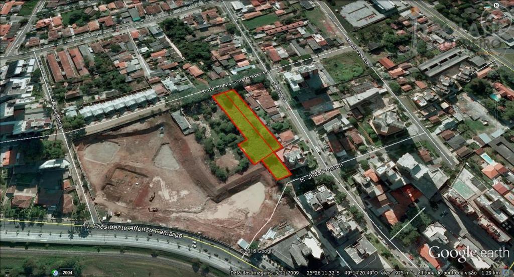 oportunidade - terreno estrutural com duas frentes no bairro cristo rei, próximo à via verde e...