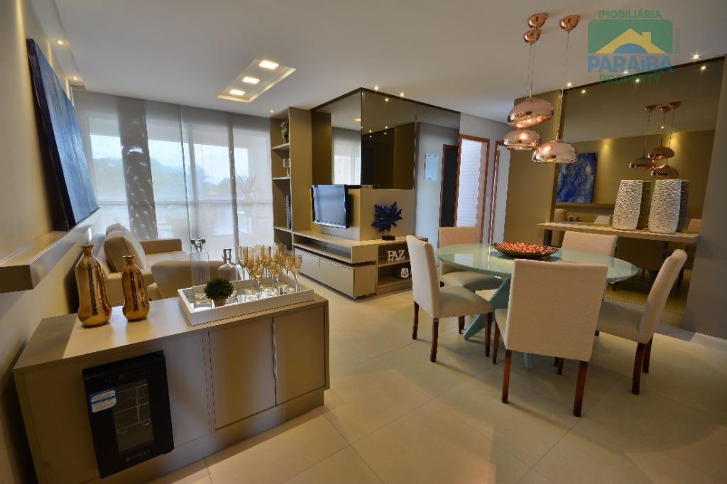 Apartamento residencial à venda, Altiplano Cabo Branco, João Pessoa - AP0623.