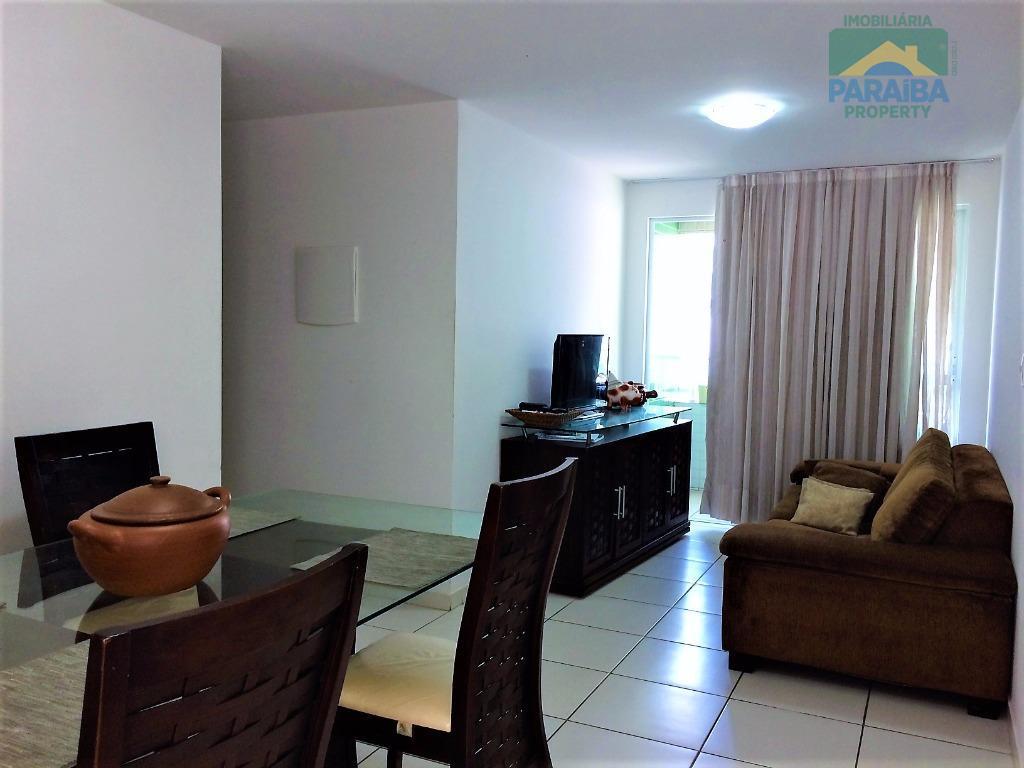 Apartamento MOBILIADO a VENDA - Praia Cabo Branco - João Pessoa - PB
