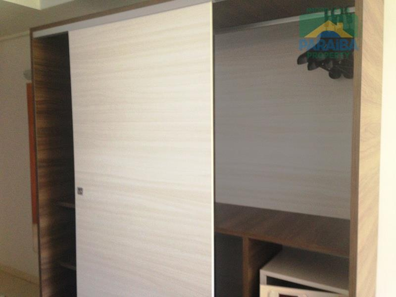 oportunidade!flat beira mar mobiliado na praia de cabo branco!35,77m² - 1 qt, 1 sala ampla, 1...