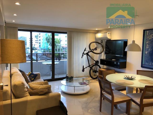 Flat LUXO  para Aluguel Mobiliado e Equipado - Praia do Cabo Branco - João Pessoa/PB