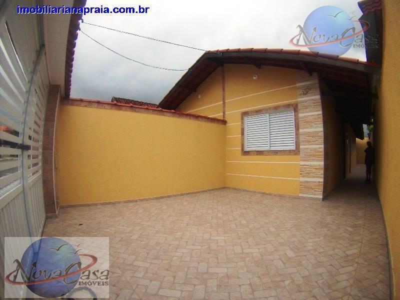 Casa Nova 2 dormitórios com suíte, Mirim, Praia Grande. Piso Porcelanato