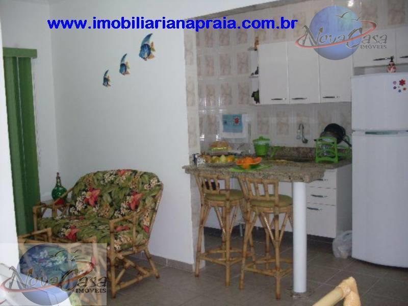 Apartamento 1 Dormitório com Sacada, Vila Mirim, Praia Grande.