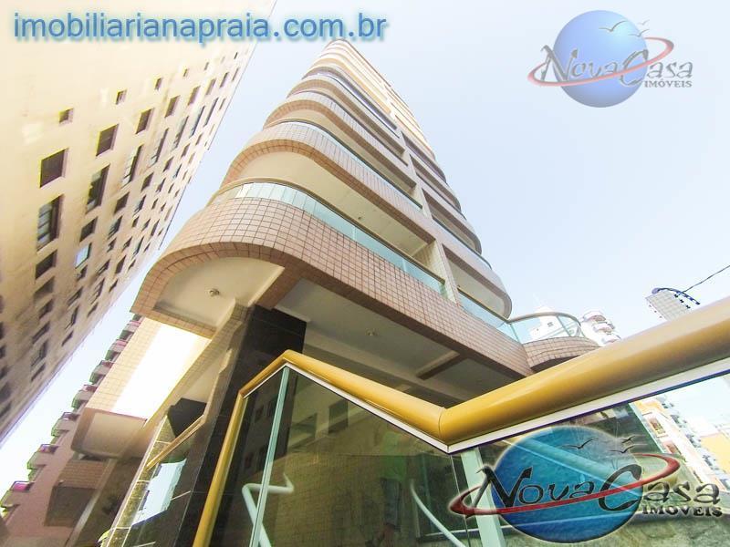Apartamento 1 dormitório com churrasqueira na sacada, Vila Tupi, Praia Grande.