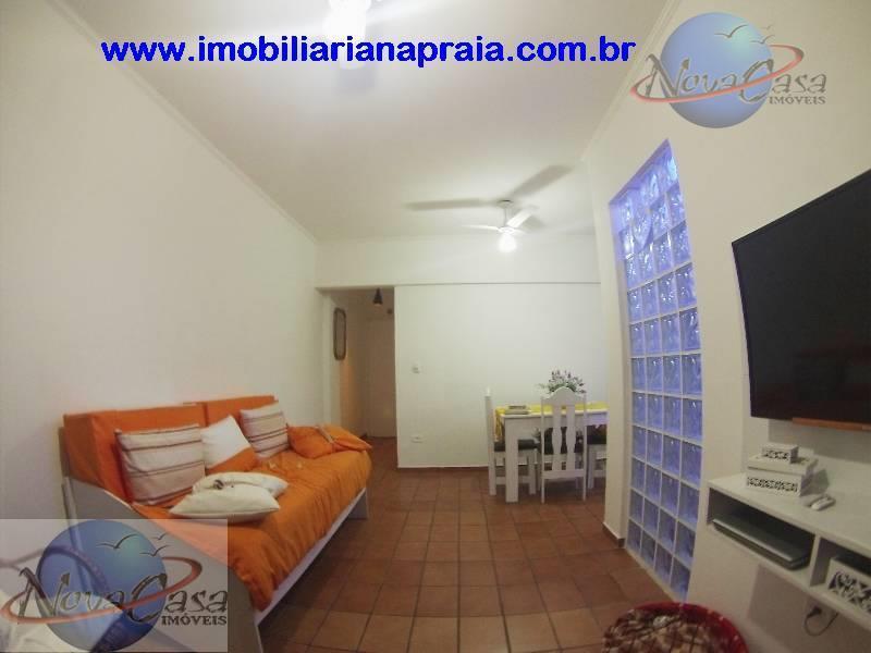 Apartamento 1 Dormitório com Sacada, Cidade Ocian, Praia Grande.