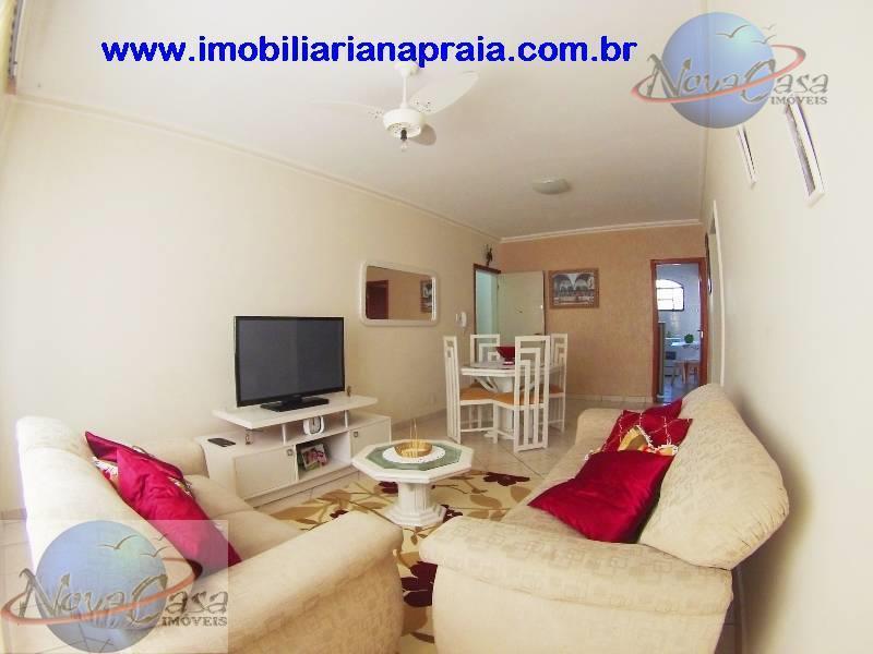 Apartamento 2 Dormitórios totalmente mobiliado, Vila Caiçara, Praia Grande.