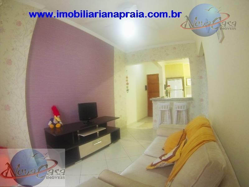 Apartamento 1 Dormitório com suíte, Vila Caiçara, Praia Grande.