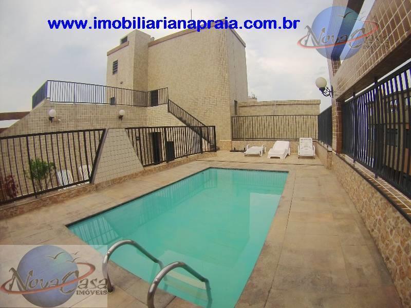 Apartamento 2 Dormitórios com Sacada, Vila Caiçara, Praia Grande.