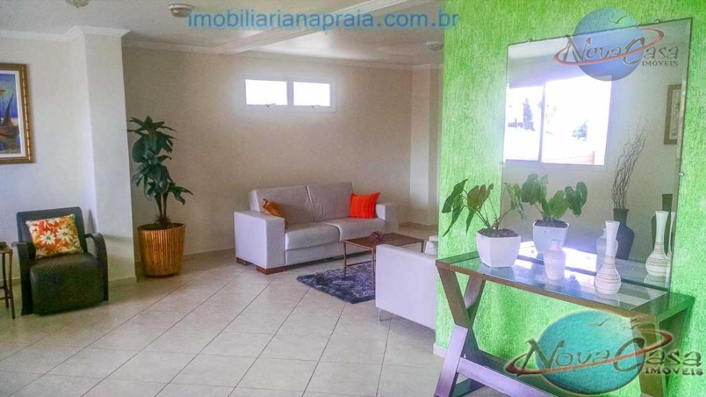 Apartamento com Sacada Vista para o Mar Guilhermina, Praia Grande.