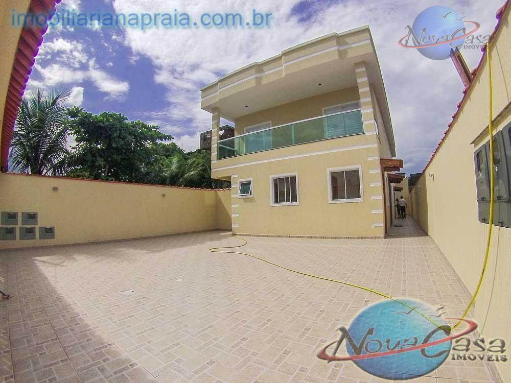 Sobrado 2 dormitórios em Condomínio Fechado, Nova Mirim, Praia Grande.