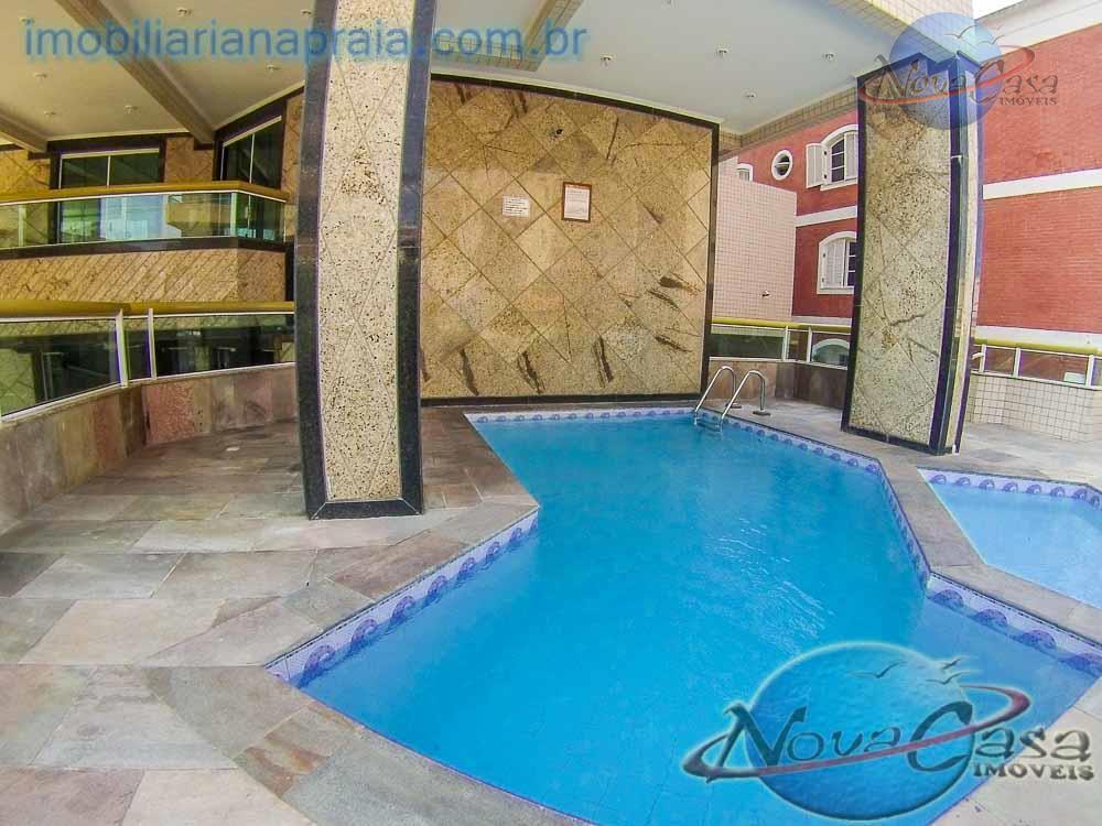 Apartamento 1 dormitório Sacada e Piscina, Tupi, Praia Grande.