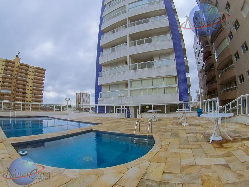 Apartamento 2 Dormitórios 1 suite, Sacada Gourmet, 2 Vagas, Tupi, Praia Grande - AP6124.