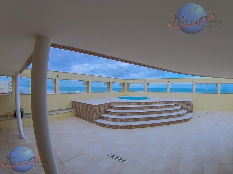 Cobertura com Piscina Frente ao Mar Caiçara, Praia Grande.