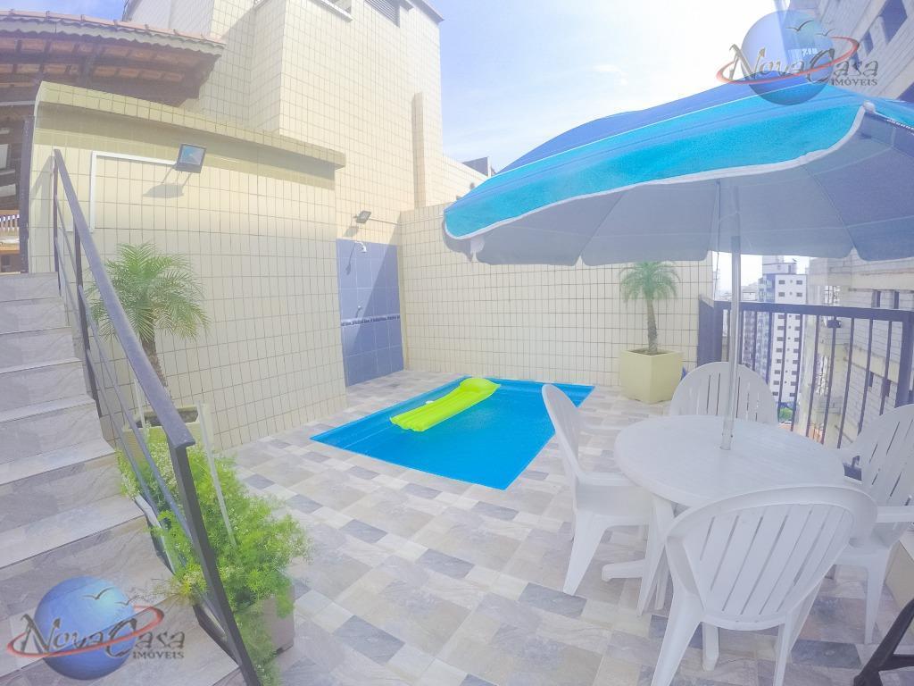 Cobertura Duplex 3 dormitórios, Piscina, Suíte, Praia Grande